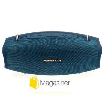 Оригинальная портативная Bluetooth колонка Hopestar X с микрофоном темно-синий (714-tg)