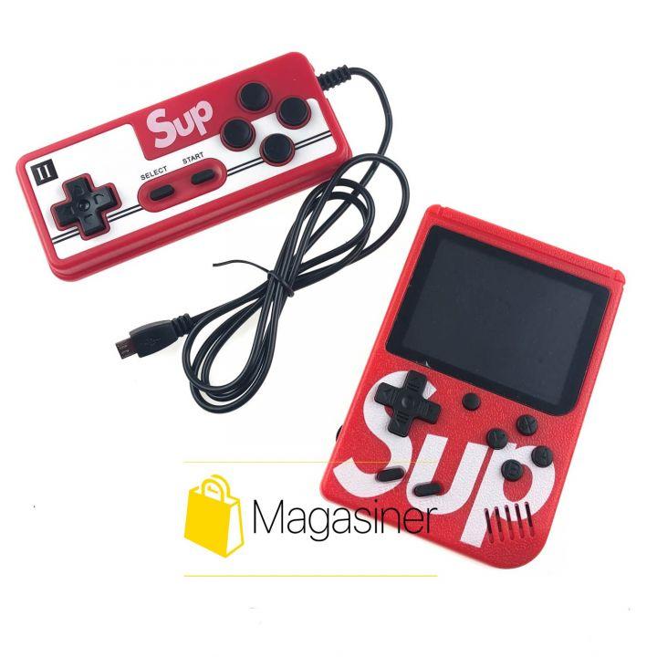 Портативная игровая ретро приставка с джойстиком Sup Game Box 400 игр dendy денди красная (729)