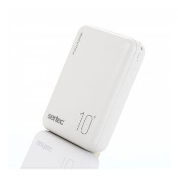 Портативный Power Bank Sertec ST-2064 10000 mAh внешний аккумулятор павербанк белый