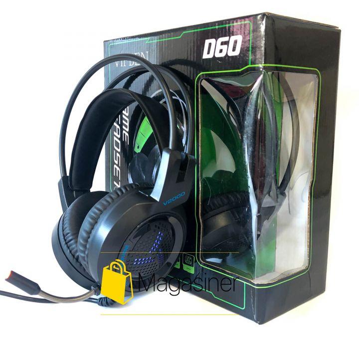 Игровые наушники с микрофоном Vipben D60 геймерские проводные для компьютера и ноутбука (755)