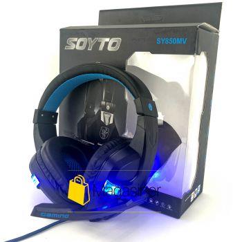 Игровые наушники проводные с микрофоном Soyto SY850MV с подсветкой (757)