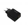 Сетевое зарядное устройство REDDAX-RDX-030 2.4 A на 2USB зарядка вольтметр для Android и IOS USB-Lightning