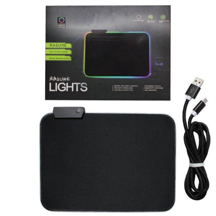 Игровая поверхность Rasure Lights Flashy RGB Gaming Mouse Pad коврик для мыши с подсветкой RGB