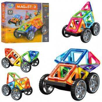 Детский магнитный 3D конструктор MagniStar Limo Toy Авто 32 детали LT3001