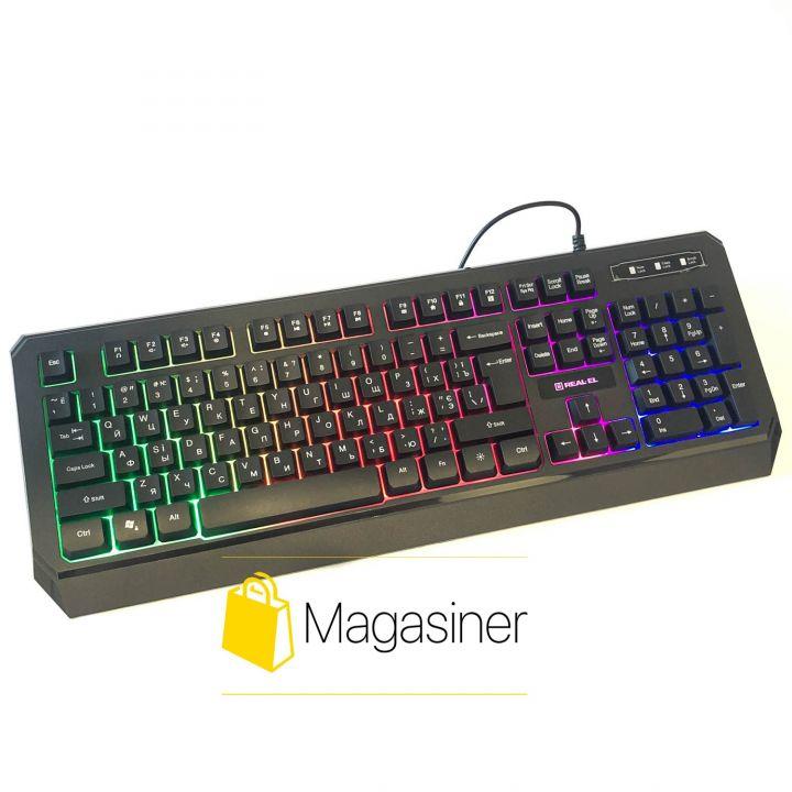 Игровая клавиатура с подсветкой REAL-EL Comfort 7001 Backlit (850)