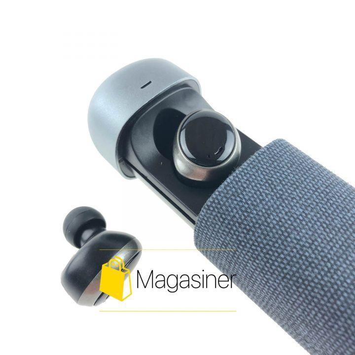 Беспроводные bluetooth наушники HIFI Earphone 206 с кейсом черные (856)