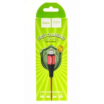 USB кабель для зарядки смартфона Hoco X38 Cool Fast Charging Cable Micro USB 1 м красный