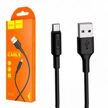 USB кабель для зарядки смартфона Hoco X25 Soarer Charging Cable Micro USB  1 м черный