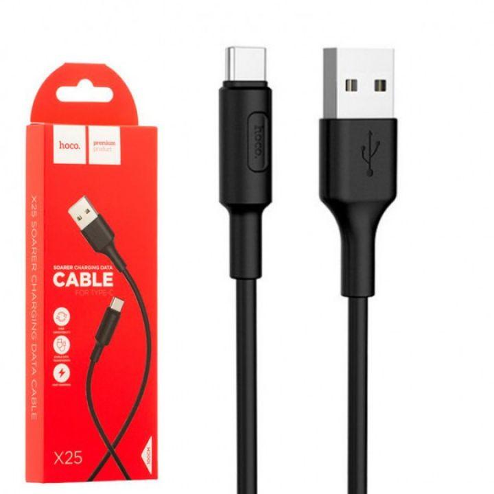 USB кабель для зарядки смартфона Hoco X25 Soarer Charging Cable Type-C 100 1 м черный