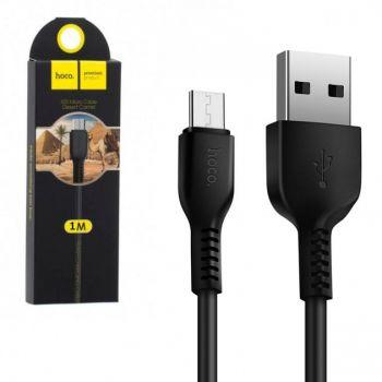 USB кабель для зарядки смартфона Hoco X20 Flash Charged Cable Micro USB 1 м черный