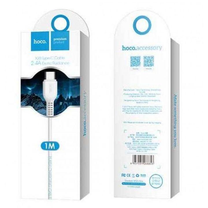 USB кабель для зарядки смартфона Hoco X20 Flash Charged Cable Lightning-USB для iPhone, iPad 1 м белый