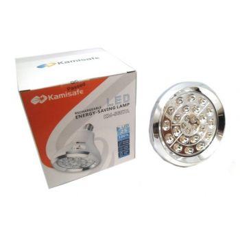 Аварийная аккумуляторная лампа Kamisafe KM-5607A светодиодная LED лампа на 25 светодиодов белая