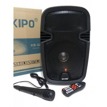 Акустическая стерео система портативная Bluetooth колонка KIPO KB-Q5 комбоусилитель с микрофоном и пультом ДУ