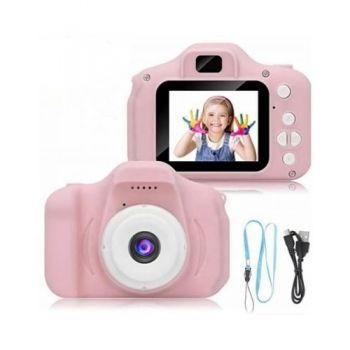 Детская фотокамера с функцией видео c 2″ дисплеем Summer Vacation GM 14 Smart Kids фотоаппарат Розовый