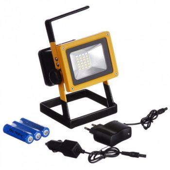 Мощный LED прожектор переносной Bailong BL-204 с ручкой для переноски и аккумулятором влагозащищенный 100 Вт