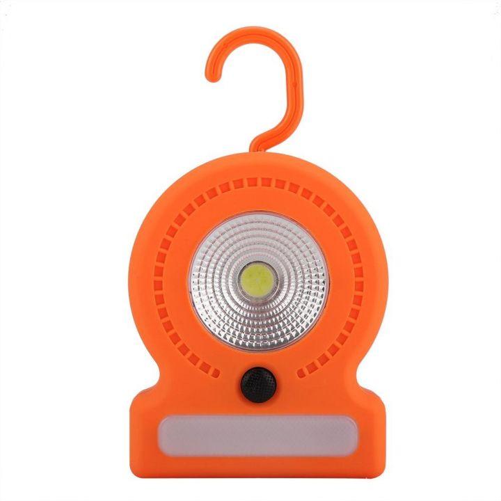 Туристический фонарь с крюком для подвески 037-А cветодиодный кемпинговый светильник с магнитом переносной оранжевый