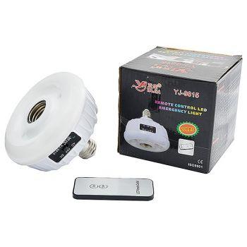 Cветодиодная лампа-патрон с аккумулятором YAJIA YJ-9815 функцией аварийного питания 20 LED и пультом ДУ