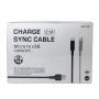 USB кабель для зарядки смартфона 12 шт  JKX-001 Charge Sync Cable USB-MicroUSB 2.1A 100см черный