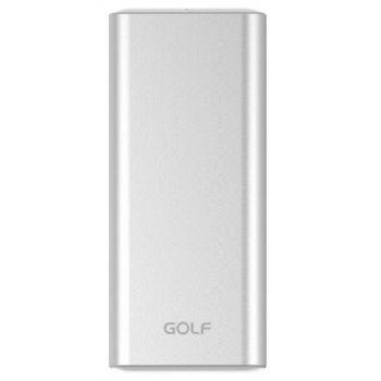 Портативный Power Bank GOLF G68 Alloy 10000 мАч внешний аккумулятор павербанк серый