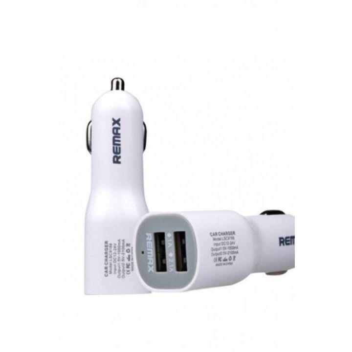 Автомобильное зарядное устройство Remax CC201 (2 USB разъёма) 2.1A адаптер в прикуриватель
