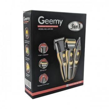 Набор для стрижки волос усов бороды Geemy GM-595 триммер с насадками 3 в 1